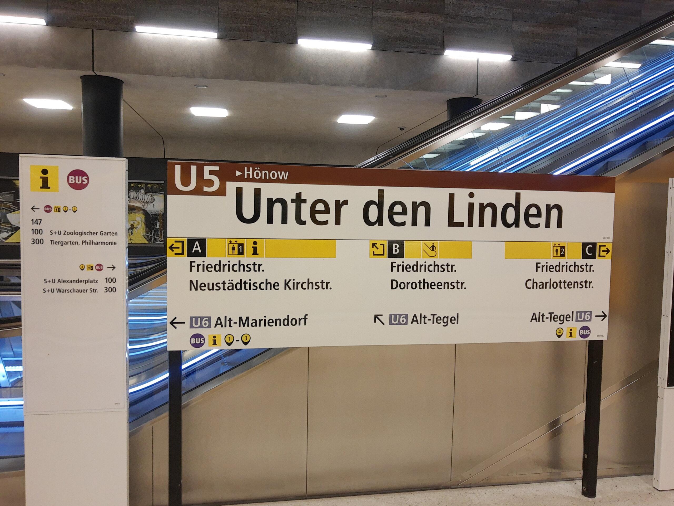 Unter den Linden U5 Anzeige